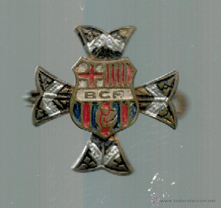 PIN INSIGNIA - F.C. BARCELONA - SIGLAS BCF - MUY RARO - (Coleccionismo Deportivo - Pins de Deportes - Fútbol)