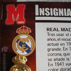Coleccionismo deportivo: MAGNIFICA INSIGNIAS DE ORO - 2003-2004- DEL - REAL MADRID - EQUIPOS DE PRIMERA DIVISION -. Lote 53028247