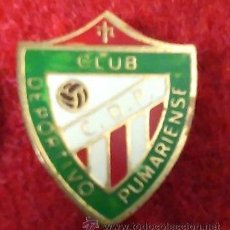 Coleccionismo deportivo: ANTIGUA INSIGNIA DE AGUJA, NO PIN. C D P CLUB DEPORTIVO PUMARIENSE. ASTURIAS.. Lote 52396224
