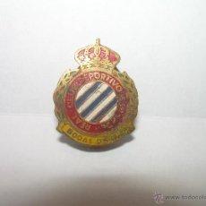 Coleccionismo deportivo: ANTIGUA INSIGNIA....REAL CLUB DEPORTIVO ESPAÑOL.....BODAS DE ORO.. Lote 53181638