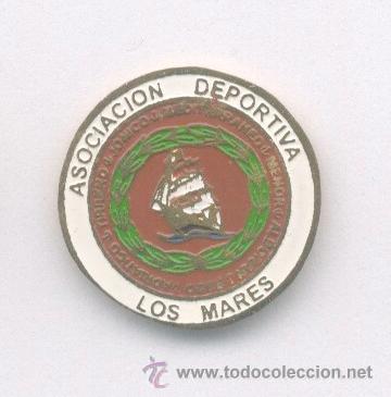 PIN - INSIGNIA DE FÚTBOL. ANDALUCÍA. AD LOS MARES (SEVILLA). DE SOLAPA (Coleccionismo Deportivo - Pins de Deportes - Fútbol)