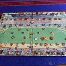 Coleccionismo deportivo: LOTE AMPLIADO 120 PIN FÚTBOL REAL MADRID ATLÉTICO PSG MILAN PARMA JUVENTUS BAYERN RAYO. GRAN REGALO. Lote 13544566