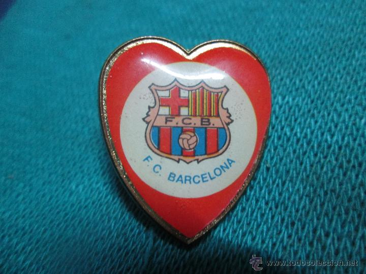 Pin F C Barcelona Corazon Kaufen Fußball Pins In Todocoleccion
