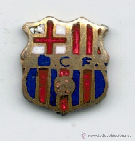 MINI PIN INSIGNIA F. C. BARCELONA - SIGLAS BCF - (Coleccionismo Deportivo - Pins de Deportes - Fútbol)