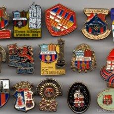 Coleccionismo deportivo: 15 PINS PEÑAS BARCELONISTAS. Lote 55870295