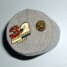 Coleccionismo deportivo: PIN ANTIGUO FUTBOL REAL ZARAGOZA LIGA 94/95. REAL ZARAGOZA 3 REAL MADRID 2. DEBUT RAUL. NUEVO!!!!. Lote 98471451