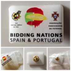 Coleccionismo deportivo: PIN BIDDING NATIONS SPAIN&PORTUGAL RFEF Y FPF. Lote 59923103
