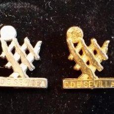 Coleccionismo deportivo: GOM-1756_PAREJA DE PINS CD BALONCESTO SEVILLA . Lote 64993183