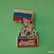 Coleccionismo deportivo: PIN DE FÚTBOL SELECCIÓN DE RUSIA MUNDIAL USA 94 DE COCA COLA LOTE 5. Lote 65854198