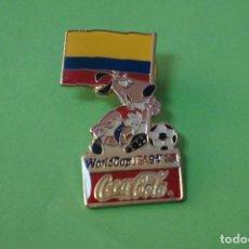Coleccionismo deportivo: PIN DE FÚTBOL SELECCIÓN DE COLOMBIA MUNDIAL USA 94 DE COCA COLA LOTE 5. Lote 65854738