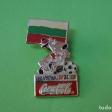 Coleccionismo deportivo: PIN DE FÚTBOL SELECCIÓN DE BULGARIA MUNDIAL USA 94 DE COCA COLA LOTE 5. Lote 65854858