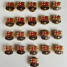 Coleccionismo deportivo: COLECCION DE 21 PINS DE CF BARCELONA. METAL ESMALTADO. CIRCA 1920. . Lote 82287984