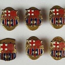 Coleccionismo deportivo: COLECCION DE 9 PINS DE CF BARCELONA. METAL ESMALTADO. CIRCA 1940. . Lote 82289788
