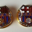 Coleccionismo deportivo: COLECCION DE 4 PINS DEL CF BARCELONA. ESMALTE Y CHAPADO EN ORO. CIRCA 1950. . Lote 82540020
