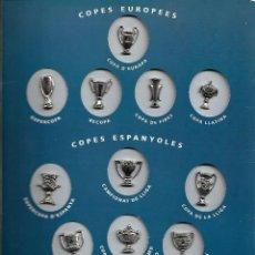 Coleccionismo deportivo - carpeta completa de LES COPES DEL BARCA-Las copas del Barcelona en pins - hasta el año 1993 - 84121652