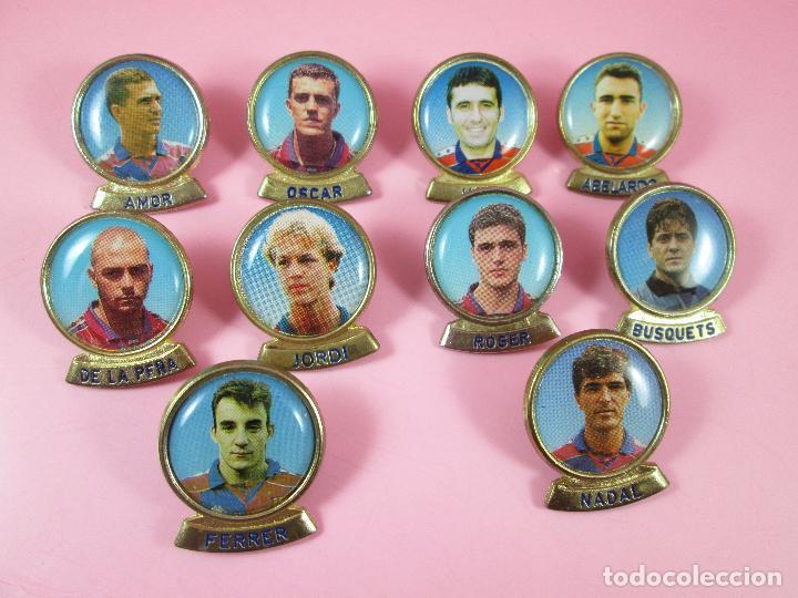 Coleccionismo deportivo: 21-lote 10 pins-f.c.barcelona-sports-lineva-NOS-ver fotos - Foto 3 - 87615528