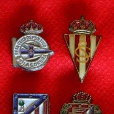 Coleccionismo deportivo: 4 PINS ALFILER CLUBS FUTBOL ESMALTADOS. Lote 90595185