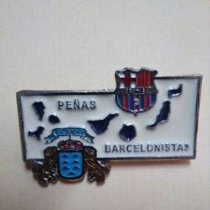 Coleccionismo deportivo: PIN PENYA PENYES BARCELONISTAS DE CANARIAS. F C BARCELONA. Lote 96583211