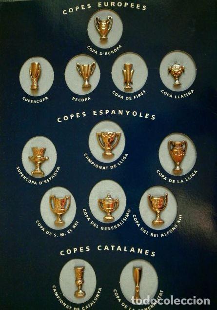 LES COPES DEL BARÇA (LAS COPAS DEL BARÇA) COLECCIÓN PINS DE LOS TROFEOS DEL F.C. BARCELONA 1899-1993 (Coleccionismo Deportivo - Pins de Deportes - Fútbol)