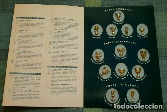 Coleccionismo deportivo: LES COPES DEL BARÇA (Las copas del Barça) Colección pins de los Trofeos del F.C. Barcelona 1899-1993 - Foto 3 - 98852823