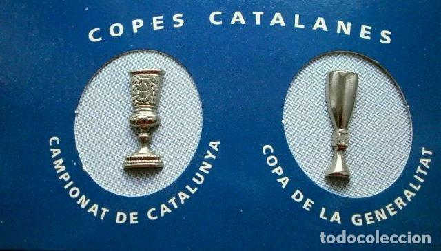Coleccionismo deportivo: LES COPES DEL BARÇA (Las copas del Barça) Colección pins de los Trofeos del F.C. Barcelona 1899-1993 - Foto 4 - 98852823