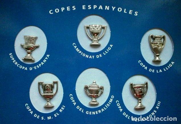 Coleccionismo deportivo: LES COPES DEL BARÇA (Las copas del Barça) Colección pins de los Trofeos del F.C. Barcelona 1899-1993 - Foto 5 - 98852823