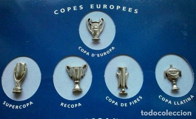 Coleccionismo deportivo: LES COPES DEL BARÇA (Las copas del Barça) Colección pins de los Trofeos del F.C. Barcelona 1899-1993 - Foto 6 - 98852823