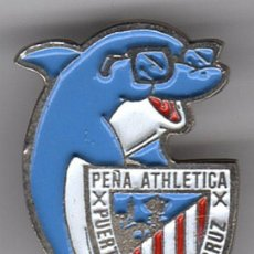 Coleccionismo deportivo: PINS FUTBOL PEÑAS ATHLETIC PEÑA PUERTO DE LA CRUZ (I.CANARIAS). Lote 103599871