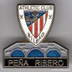 Coleccionismo deportivo: PINS FUTBOL PEÑAS ATHLETIC PEÑA RIBERO (BURGOS). Lote 103612039