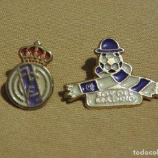 Coleccionismo deportivo: LOTE DE 2 PIN DEL REAL MADRID FUTBOL CLUB. Lote 105769115