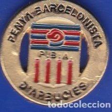 Coleccionismo deportivo: PIN FUTBOL CLUB BARCELONA DE LA PEÑA BARCELONISTA D'ARBUCIES (FOOTBALL) BARÇA. Lote 110359059