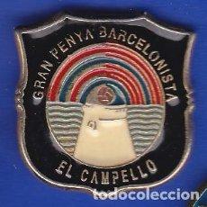 Coleccionismo deportivo: PIN FUTBOL CLUB BARCELONA DE LA PEÑA BARCELONISTA DE EL CAMPELLO - ALICANTE (FOOTBALL) BARÇA. Lote 110360119