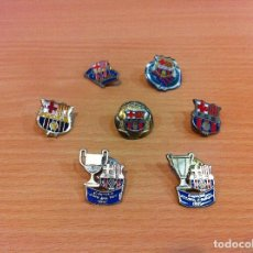 Coleccionismo deportivo: LOTE DE 7 PINS DEL FÚTBOL CLUB BARCELONA - FCB - PIN BARÇA. Lote 111974183