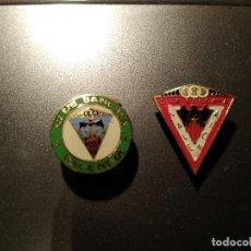 Coleccionismo deportivo: 2 INSIGNIAS CLUB BANCAYA VALENCIA. Lote 114587343