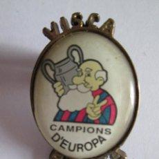 Coleccionismo deportivo: PIN F.C. BARCELONA - VISCA BARÇA - CAMPIONS D'EUROPA - 3X2. Lote 114671891