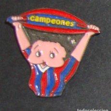 Coleccionismo deportivo: (TC-114-10) PIN F. C. BARCELONA BARÇA CAMPEONES. Lote 114969479