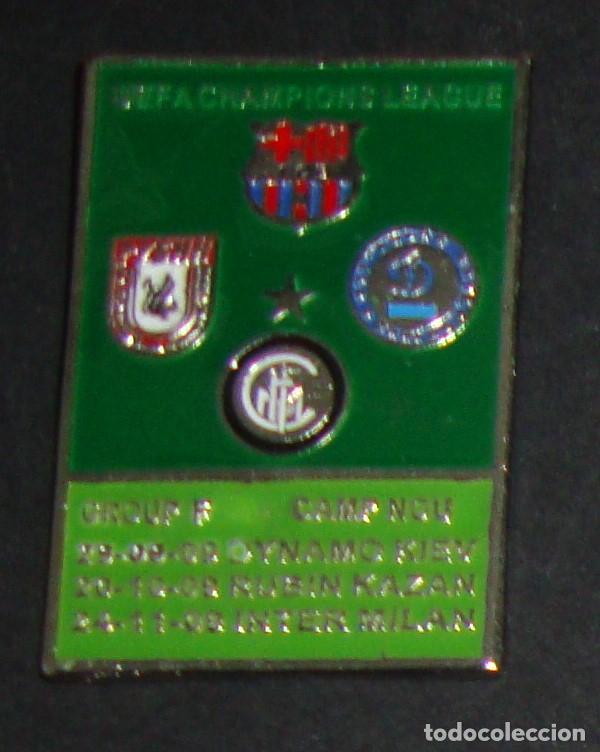 (TC-114-10) PIN F. C. BARCELONA BARÇA UEFA CHAMPIONS LEAGUE GROUP F NOU CAMP 2009 (Coleccionismo Deportivo - Pins de Deportes - Fútbol)