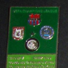 Coleccionismo deportivo: (TC-114-10) PIN F. C. BARCELONA BARÇA UEFA CHAMPIONS LEAGUE GROUP F NOU CAMP 2009. Lote 115033859