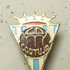 Coleccionismo deportivo: RARISIMO PIN, INSIGNIA CLUB DE FUTBOL LA CARTUJA ZARAGOZA. AÑOS 60.. Lote 115418635