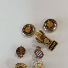 Coleccionismo deportivo: LOTE 7 PINS GEMELOS FÚTBOL COLEGIO ARBITRAJE, REAL FEDERACIÓN, EXPORT ETC. Lote 116304271