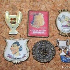 Coleccionismo deportivo: LOTE 6 PINS DIFERENTES FUTBOL *** FC BARCELONA (BARÇA) *** SIN ENGANCHE TRASERO ***. Lote 119970119