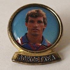 Coleccionismo deportivo: PIN DE GOIKOETXEA. DREAM TEAM DEL BARCELONA. BARÇA. AÑOS 90. DIARIO SPROT. LINEVA. FVB. VER FOTOS.. Lote 120232979
