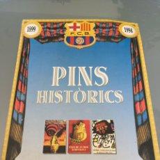 Coleccionismo deportivo: COLECCIÓN PINS HISTORICOS LÁMINAS FCB PERIÓDICO SPORT AÑOS 1899/1994. Lote 121552286