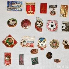 Coleccionismo deportivo: LOTE 20 INSIGNIAS SOVIETICAS .TEMATICA-CLUBES DEL FUTBOL .URSS. Lote 126473219