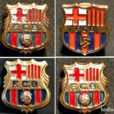 Coleccionismo deportivo: LOTE 4 PINS ANTIGUOS ESCUDOS BARÇA ESCUDO FUTBOL CLUB BARCELONA. Lote 129737387