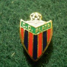 Coleccionismo deportivo: INSIGNIA PARA OJAL DE SOLAPA - C.D. PLATA - ANTIGUO CLUB DE FUTBOL DE MADRID. Lote 138203742