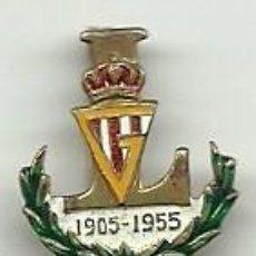 Coleccionismo deportivo: (P-347)INSIGNIA DE AGUJA SPORTING DE GIJON 50 ANIVERSARIO 1905-1955. Lote 139195382