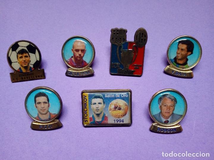 LOTE 7 PINS BARÇA (LIGA 1996 - 1997) (Coleccionismo Deportivo - Pins de Deportes - Fútbol)