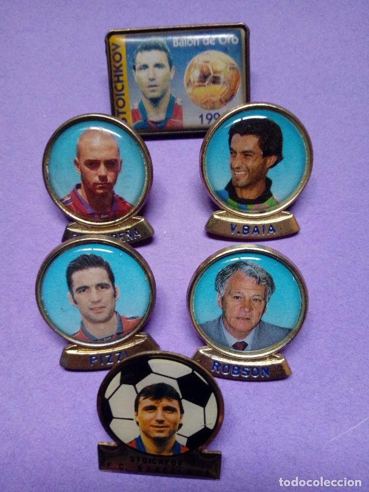 Coleccionismo deportivo: Lote 7 pins Barça (Liga 1996 - 1997) - Foto 2 - 142437982