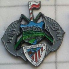 Coleccionismo deportivo: PINS ATHLETIC CLUB BILBAO PEÑA GIBAJA CANTABRIA. Lote 155704624